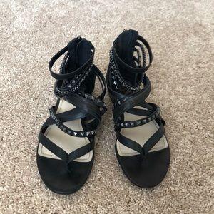 Vince Camino black studded sandals